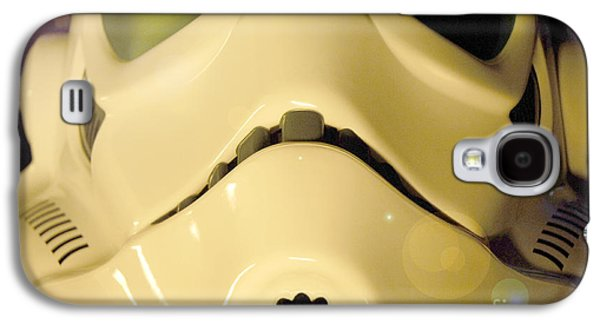 Science Fiction Photographs Galaxy S4 Cases - Stormtrooper Helmet 105 Galaxy S4 Case by Micah May