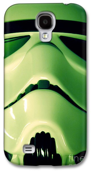 Science Fiction Photographs Galaxy S4 Cases - Stormtrooper Helmet 109 Galaxy S4 Case by Micah May