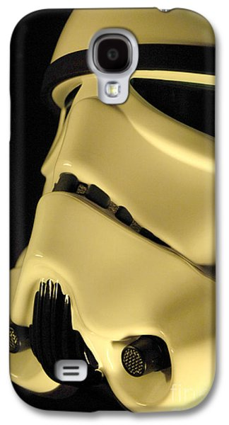 Science Fiction Photographs Galaxy S4 Cases - Stormtrooper Helmet 112 Galaxy S4 Case by Micah May