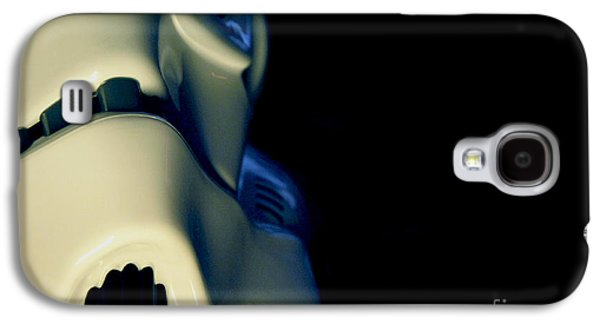 Science Fiction Photographs Galaxy S4 Cases - Stormtrooper Helmet 114 Galaxy S4 Case by Micah May