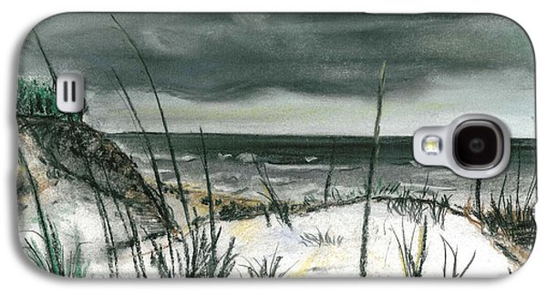 Beach Landscape Pastels Galaxy S4 Cases - Stormy Beach Galaxy S4 Case by Sarah Lowe
