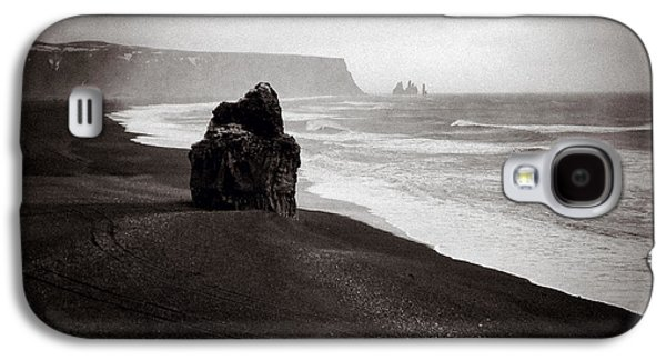 Stormy Weather Galaxy S4 Cases - Stormy Day at Dyrholaey Galaxy S4 Case by Dave Bowman