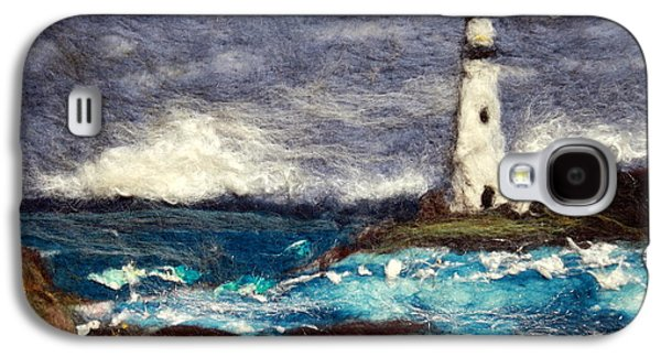 Storm Prints Tapestries - Textiles Galaxy S4 Cases - Stormy Day at the Lighthouse Galaxy S4 Case by Kyla Corbett