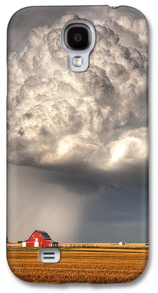 Prairie Galaxy S4 Cases - Stormy Homestead Barn Galaxy S4 Case by Thomas Zimmerman