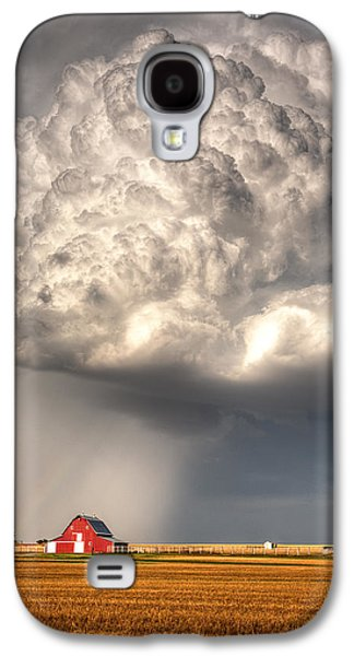 Prairie Galaxy S4 Cases - Stormy Homestead Barn Galaxy S4 Case by Thomas Zimmerman