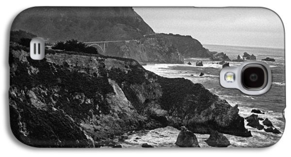 Bixby Bridge Galaxy S4 Cases - Stormy Hwy 1 Coast Galaxy S4 Case by Kathy Yates
