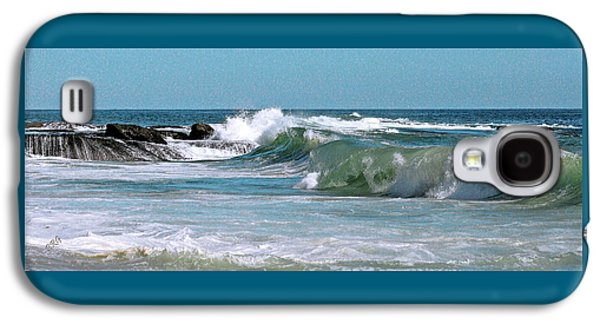 Turbulent Skies Galaxy S4 Cases - Stormy Lagune - Blue Seascape Galaxy S4 Case by Ben and Raisa Gertsberg