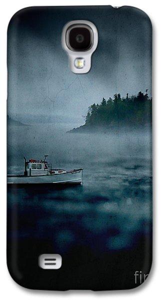 Foggy Ocean Galaxy S4 Cases - Stormy Night off the Coast of Maine Galaxy S4 Case by Edward Fielding