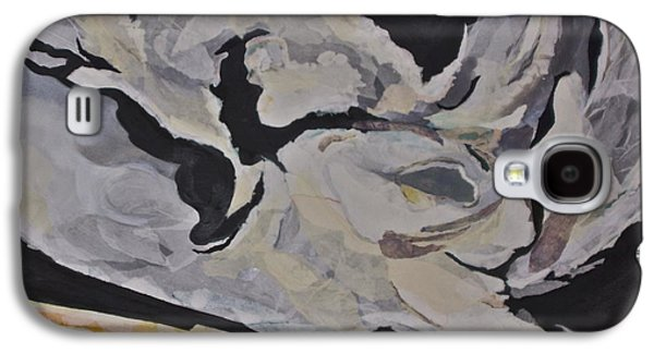 Storm Prints Mixed Media Galaxy S4 Cases - Stormy roads - torn paper collage Galaxy S4 Case by Deborah Talbot - Kostisin