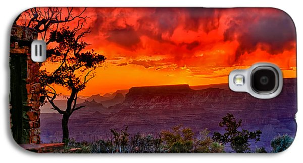 Photographic Art Galaxy S4 Cases - Stormy Sunset at the Watchtower Galaxy S4 Case by Greg Norrell