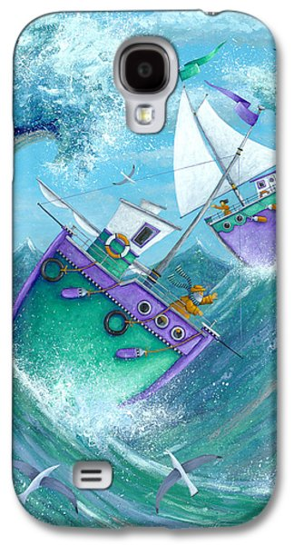 Wavy Galaxy S4 Cases - Stormy Weather Galaxy S4 Case by Peter Adderley