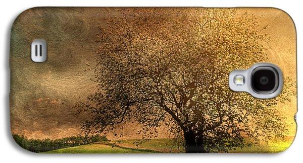 Tree Print Mixed Media Galaxy S4 Cases - Stormy Weather Galaxy S4 Case by Georgiana Romanovna