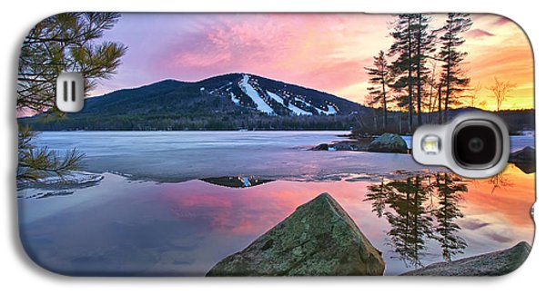 Maine Mountains Galaxy S4 Cases - St.Pattys Day Sunset Galaxy S4 Case by Darylann Leonard Photography