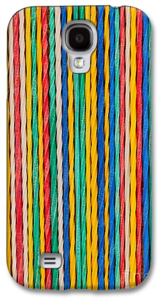 Blue Abstracts Sculptures Galaxy S4 Cases - Straight Galaxy S4 Case by Shawn Hempel