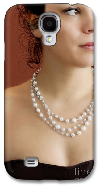 Strapless Dress Galaxy S4 Cases - Strand of Pearls Galaxy S4 Case by Margie Hurwich