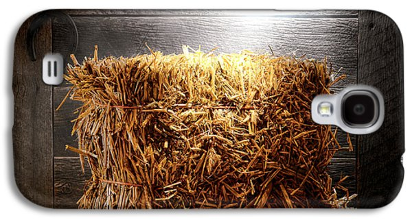 Bale Galaxy S4 Cases - Straw Bale in Old Barn Galaxy S4 Case by Olivier Le Queinec