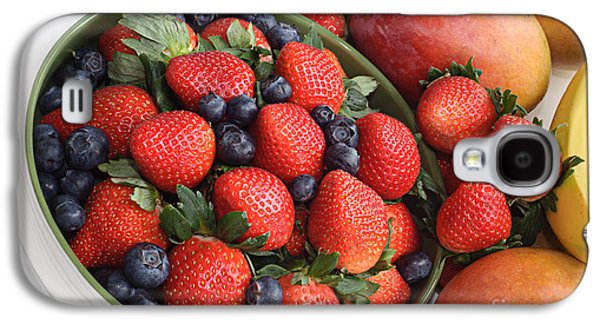 Strawberries Blueberries Mangoes And A Banana - Fruit Tray Galaxy S4 Case by Andee Design