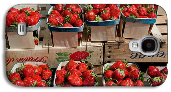 Arles Galaxy S4 Cases - Strawberries For Sale At Weekly Market Galaxy S4 Case by Panoramic Images