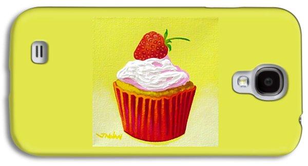 Motif Galaxy S4 Cases - Strawberry Cupcake Galaxy S4 Case by John  Nolan