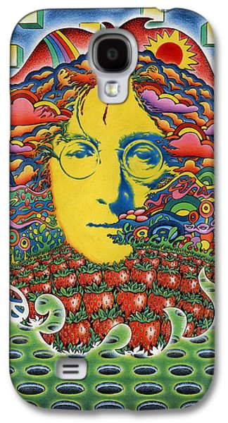 Trippy Drawings Galaxy S4 Cases - Strawberry Fields for Lennon Galaxy S4 Case by Jeff Hopp