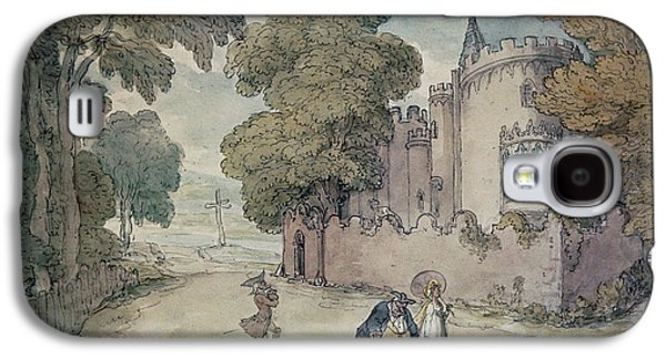Gothic Galaxy S4 Cases - Strawberry Hill Hand Coloured Aquatint Galaxy S4 Case by Thomas Rowlandson