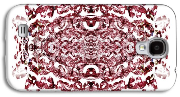 Abstract Nature Mixed Media Galaxy S4 Cases - Strawberry Red Abstract Galaxy S4 Case by Frank Tschakert