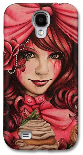 Surrealism Pastels Galaxy S4 Cases - Strawberry Galaxy S4 Case by Sheena Pike