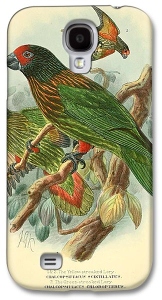 Streaked Lory Galaxy S4 Case by J G Keulemans