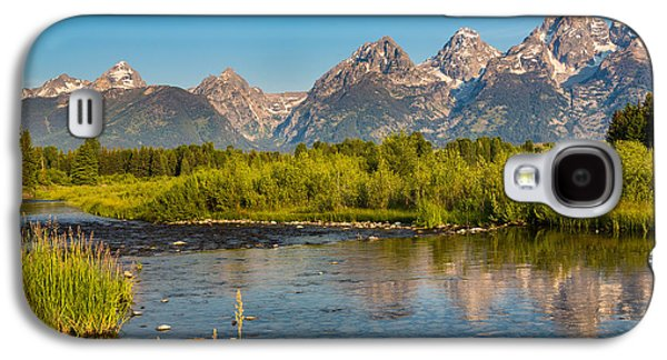 Snow Capped Galaxy S4 Cases - Stream at the Tetons Galaxy S4 Case by Robert Bynum