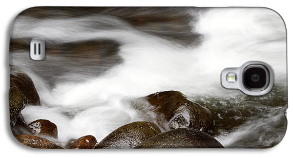 White River Scene Galaxy S4 Cases - Stream flowing  Galaxy S4 Case by Les Cunliffe