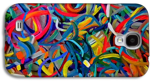 Abstracts Galaxy S4 Cases - Streamers of Joy Galaxy S4 Case by Michael Durst