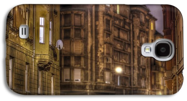 Long Street Digital Art Galaxy S4 Cases - Street corner Budapest Galaxy S4 Case by Nathan Wright
