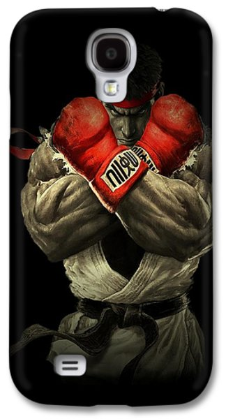 Men Drawings Galaxy S4 Cases - Street Fighter Galaxy S4 Case by Movie Poster Prints