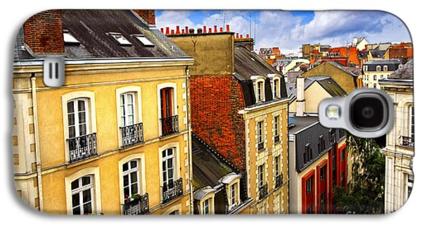 Chimneys Galaxy S4 Cases - Street in Rennes Galaxy S4 Case by Elena Elisseeva