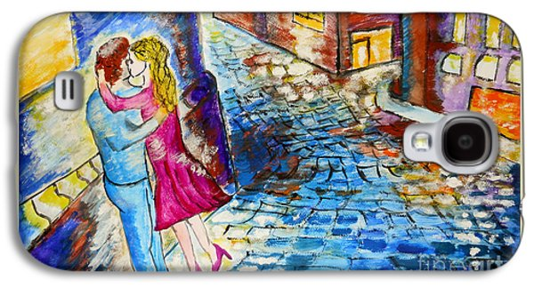 First Love Galaxy S4 Cases - Street Kiss by Night  Galaxy S4 Case by Ramona Matei