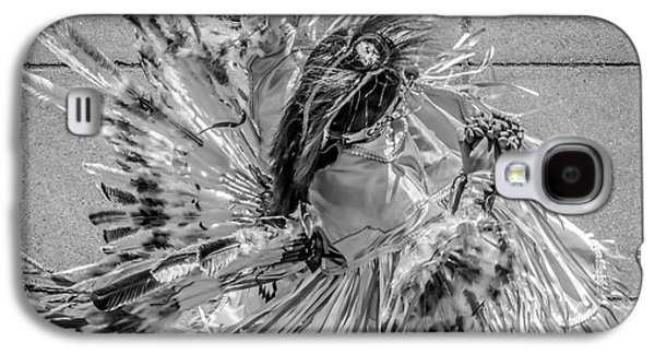 Candid Photographs Galaxy S4 Cases - Street Shadow Dancer 1 - Black and White - Square crop Galaxy S4 Case by Ian Monk