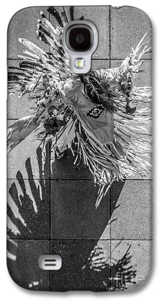 Candid Photographs Galaxy S4 Cases - Street Shadow Dancer - Black and White Galaxy S4 Case by Ian Monk