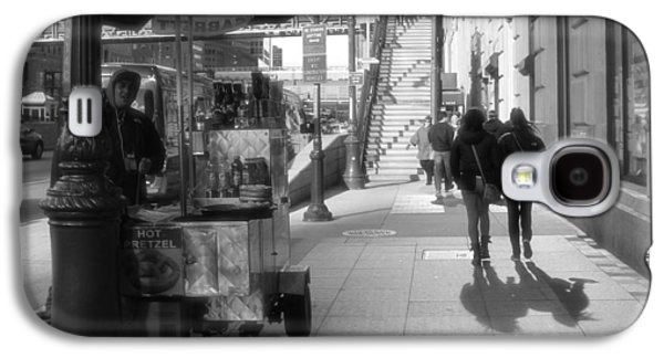 Manhattan Street Galaxy S4 Cases - Street Vendor And Stairs In New York City Galaxy S4 Case by Dan Sproul