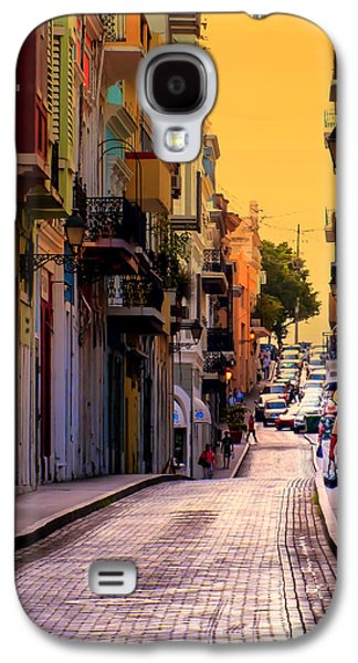 Rainy Day Photographs Galaxy S4 Cases - STREETS of SAN JUAN Galaxy S4 Case by Karen Wiles
