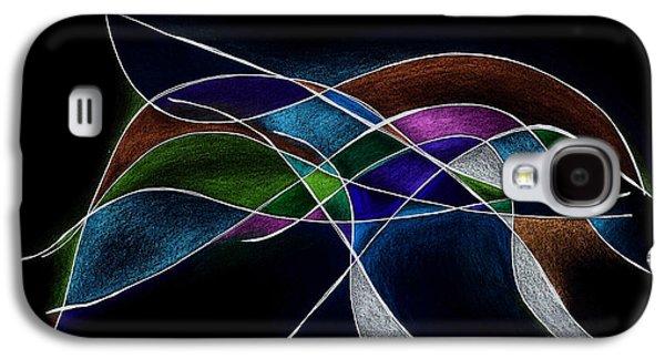 Inner Self Mixed Media Galaxy S4 Cases - Strength in Black Galaxy S4 Case by Alla Ilencikova