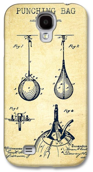 Boxing Digital Galaxy S4 Cases - Striking Bag Patent Drawing from 1891 - Vintage Galaxy S4 Case by Aged Pixel
