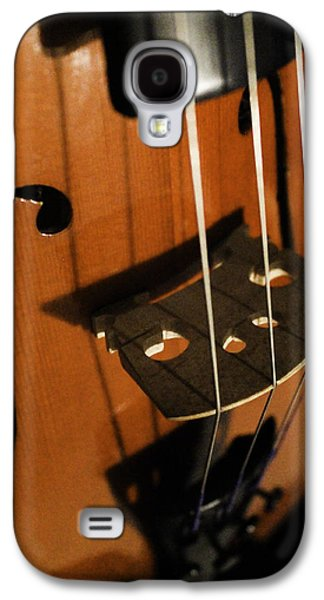 Music Pyrography Galaxy S4 Cases - Strings Galaxy S4 Case by Amber Wilson