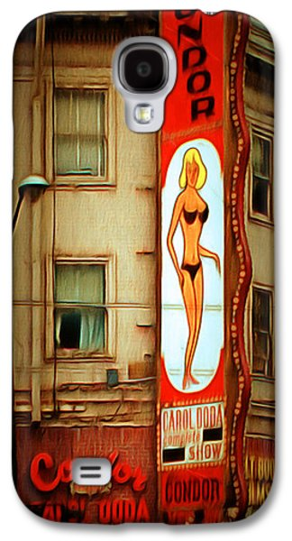 Long Street Digital Art Galaxy S4 Cases - Strip Club Carol Doda Condor Broadway San Francisco 20150127brun Galaxy S4 Case by Wingsdomain Art and Photography