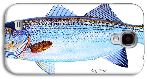 Wahoo Galaxy S4 Cases - Striped Bass Galaxy S4 Case by Carey Chen