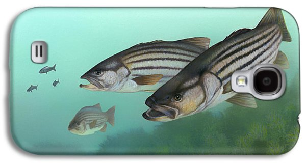 Blood Drawings Galaxy S4 Cases - Striped Bass Galaxy S4 Case by Mountain Dreams