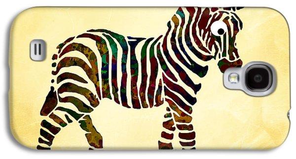 Zebra Digital Art Galaxy S4 Cases - Striped Zebra Galaxy S4 Case by Christina Rollo