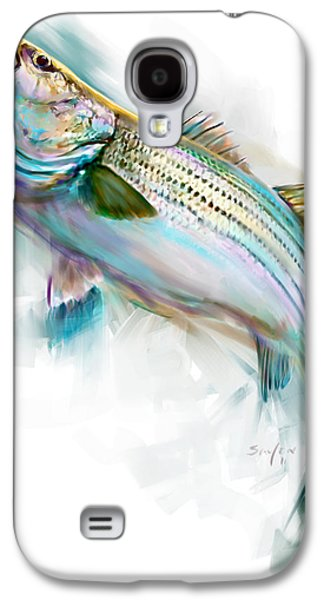 Stripes Paintings Galaxy S4 Cases - Striper Rise Galaxy S4 Case by Savlen Art