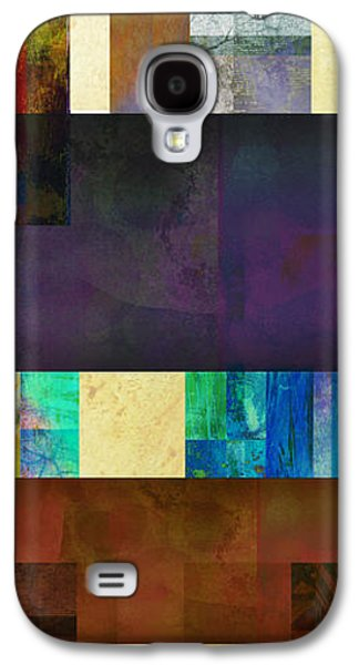 Abstract Digital Mixed Media Galaxy S4 Cases - Stripes and Squares - abstract -art Galaxy S4 Case by Ann Powell