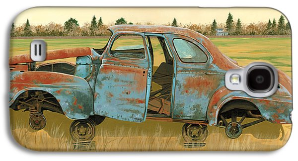 Rusted Cars Galaxy S4 Cases - Stripped Down Galaxy S4 Case by John Wyckoff