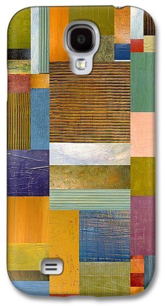 Textural Galaxy S4 Cases - Strips and Pieces lV Galaxy S4 Case by Michelle Calkins